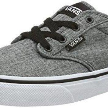 VANS KIDS ATWOOD SHOES ROCK TEXTILE BLACK WHITE SIZE 3