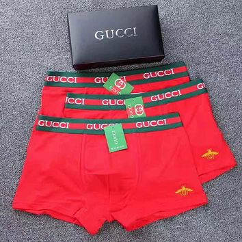 Gucci Men Briefs Shorts Underpants Male Cotton Underwear