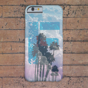 Custom Monogram Palm Trees x Clouds Case for iPhone 6 6 Plus iPhone 5 5s 5c iPhone 4 4s Samsung Galaxy s5 s4 & s3 and Note 4 3 2