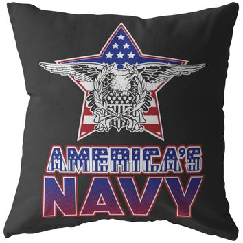 Americas Navy US Flag Eagle Pillows