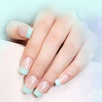 240pcs Newest 100% Brand French Manicure Strip Nail Art Form Fringe Guides Water Transfer Sticker DIY Line Tips White Nail Decal