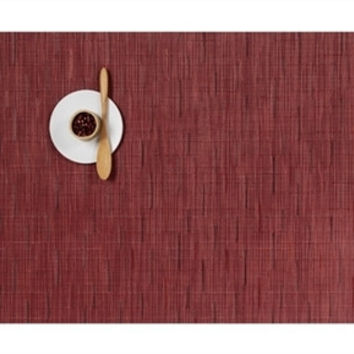 Chilewich Bamboo Rectangular Placemat S/4 | Cranberry