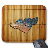 Corroded Heart Pattern Mouse Pad