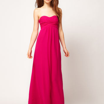 Ted Baker Ruched Bandeau Maxi Dress - blue