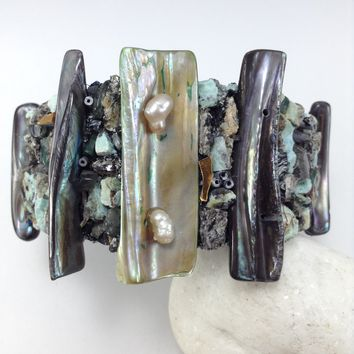 Pearls of Beauty Cuff Bracelet