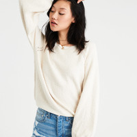 AE Boucle Balloon Sleeve Sweater, Cream