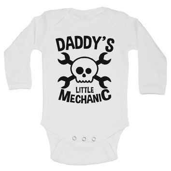 DADDY'S LITTLE MECHANIC - Newborn Baby Bodysuits
