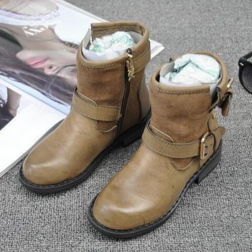 Girls' Winter Boots Fashion leather