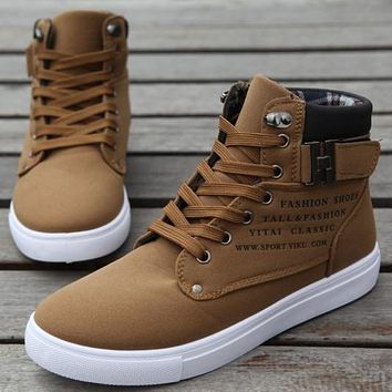 Men Shoes Sapatos Leather Ankle Boots