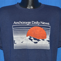80s Anchorage Alaska Sunset Mountain t-shirt Large