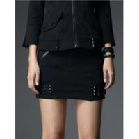 Gothic studded mini skirt - Punk Rave