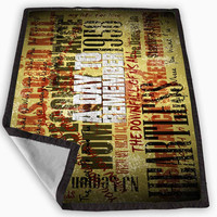 A Day To Remember Song Blanket for Kids Blanket, Fleece Blanket Cute and Awesome Blanket for your bedding, Blanket fleece **