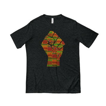 Men Raised Fist Short Sleeve T-shirt