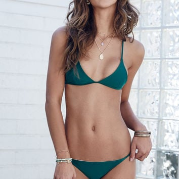 Kovey Adventure Crisscross Back Fixed Triangle Bikini Top at PacSun.com