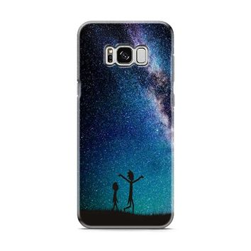 Rick and Morty Nebula Space blue Samsung Galaxy S8 | Galaxy S8 Plus case