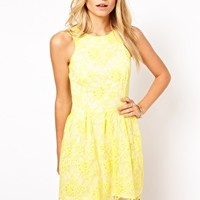 Love Skater Dress In Lace at asos.com