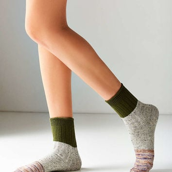 Out From Under Colorblocked Marled Crew Sock - Urban Outfitters