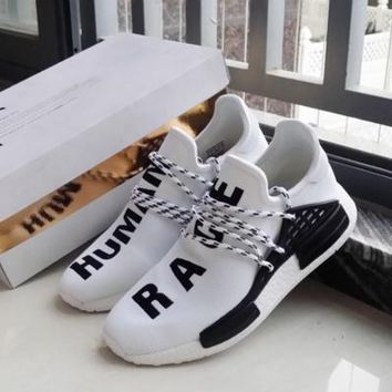 Adidas Nmd Human Race White Leisure Running Sports Shoes
