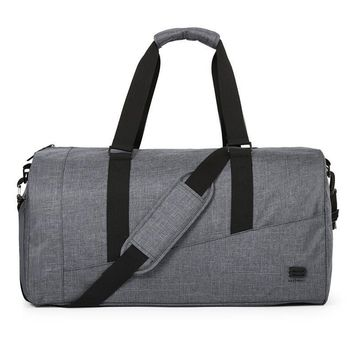 BAGSMART Men Travel Bag Large Capacity Carry on Luggage Bag Nylon Travel Duffle Shoe Pocket Overnight Weekend Bags Travel Tote