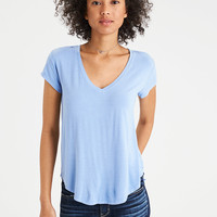 AE Soft & Sexy V-Neck Favorite T-Shirt, Cobalt Blue