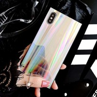Laser Holographic Rainbow iPhone 6, 7, 8, X, XS XR XS Max Case