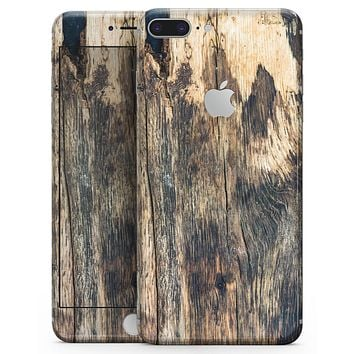 Rich Eroded Wood Planks - Skin-kit for the iPhone 8 or 8 Plus
