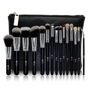 Luxury Make-up Brush 15-pcs Zippers Wool Eye Shadow Brush [9647070351]