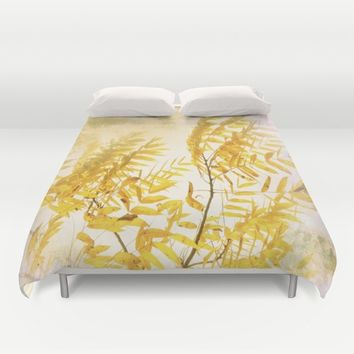 Yellow Branch Duvet Cover by aRTsKRATCHES