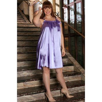 Lavender Halter Swing Summer Party Sexy Curvy Dress Plus Size
