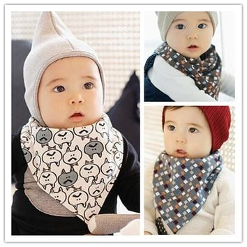 High-quality Cotton Newborn Feeding Baby Bibs Waterproof Bandana Triangl Bib Towel Scarf Baby Boy And Girl Stuff Muslin Cloth