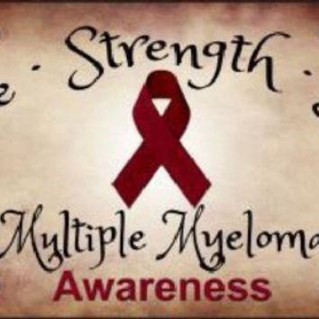 Hope Strength Love Multiple Myeloma  Awareness  License Plate Tag