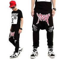 BigBang GDragon KTZ Kpop Kanye HAREM Sweat Hip Pop Drop-Crotch Trousers Pants