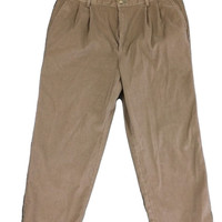 Tommy Hilfiger Mens Corduroy Pants Light Brown Pleated - 42x32