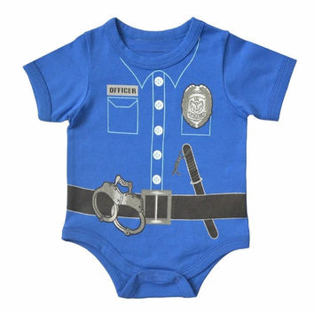 Police Officer Short Sleeve Onesuit