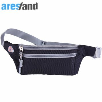 ARESLAND portable fashion Waist Bag Pack Men Women Belt  For Wallets Phone 4-6 Inch Phone For Iphone Xiaomi Huawei Black