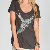 O'neill Swallowtail Womens Tee Black  In Sizes