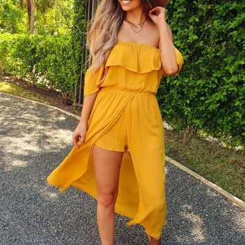 Up Your Style Romper: Golden