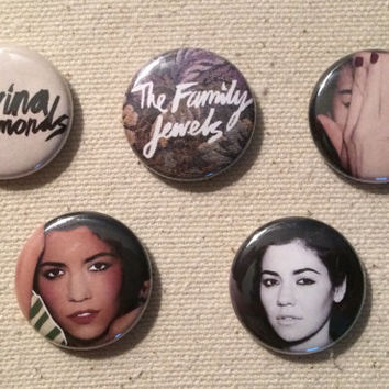 Marina and the Diamonds, The Family Jewels Era, Pin Back Button, Set or Choose Your Own