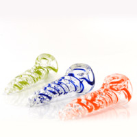 Hand Glass Pipe 6,5 cm Electric Jellyfish