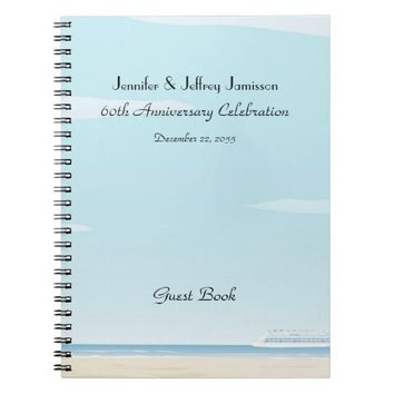 60th Anniversary Party Guest Book, Cruise Ship Notebook