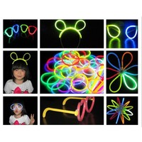 Zicac DIY 100 8 Inch Glow Stick Bracelets,mixed Colors,100bracelet/necklace Connectors,3 Pairs of D
