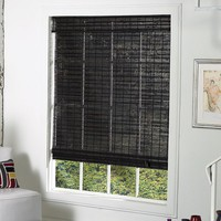 Radiance St. Lawrence Bamboo Roman Shades - 36'' x 64'' (Brown)