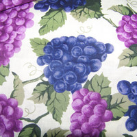 Fabric, Grapes on the Vine