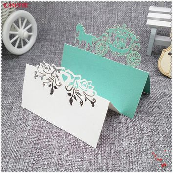 Laser Cut Place Name Paper Seat Card Party