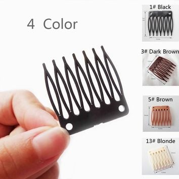 100pcs/Lot,Wig Accessories,Hair Wig Plastic Combs and Clips For Wig Cap,Black Color Combs For Making Wig,Vogue Queen Products