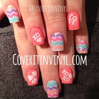 Valentines Day Nail Decals - Set of 190