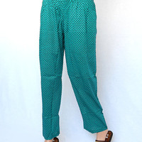 Slim Fit Cotton Thai Pant Trouser Green Color Women Pant Summer Dressing Trouser Hippie Boho Pant Gypsy Trouser Hippy Bohemian Clothing Pant