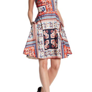 Donna Morgan | Sleeveless Fit & Flare Print Dress | Nordstrom Rack