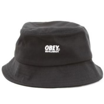 OBEY, Worldwide Bucket Hat - Black - OBEY - MOOSE Limited