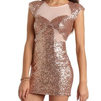 Body-Con Sequin Mesh Dress